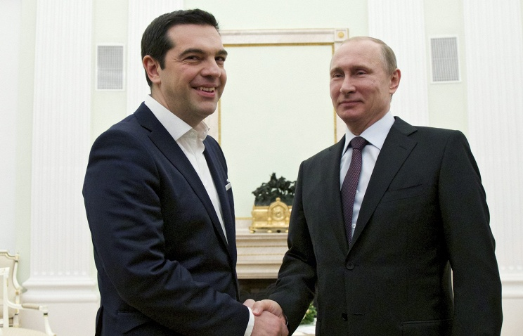Greek Prime Minister Alexis Tsipras and Russian President Vladimir Putin